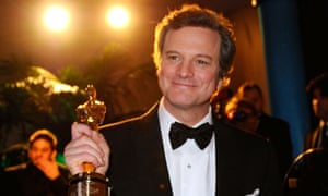 Colin Firth with his best actor Oscar at the Academy Awards 2011.