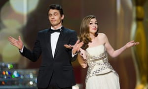 Oscars 2011 hosts James Franco and Anne Hathaway try to give the impression they're on top of things