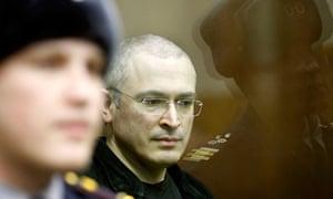 Jailed oil tycoon Mikhail Khodorkovsky, who funded the liberal opposition to Vladimir Putin.