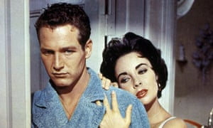 Elizabeth Taylor and Paul Newman in Cat on a Hot Tin Roof (1958)