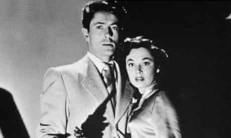 Farley Granger with Ruth Roman in Strangers on a Train