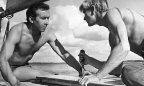 Leon Niemczyk, left, and Zygmunt Malanowicz in Roman Polanski's first feature, Knife in the Water