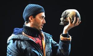 Beanie booby ... David Tennant as Hamlet in the RSC's modern-dress 2008 production.