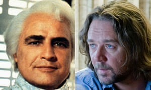 Silver screen ... Can Russell Crowe, right, emulate Marlon Brando in Superman?