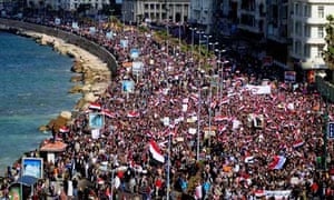 Protests in Alexandria, Egypt, February 2011