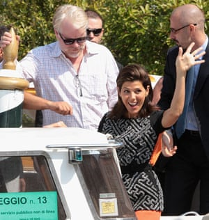 "George Clooney And ""The Ides Of March"" Cast Arrive In Venice - 68th Venice Film Festival"
