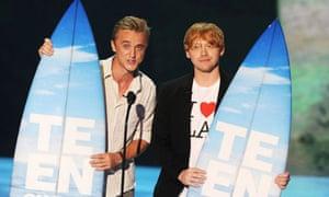 Tom Felton and Rupert Grint at the Teen Choice awards 2011
