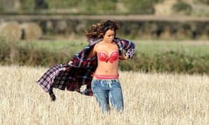 Rihanna shooting her new music video on Alan Graham's land outside Bangor, Northern Ireland.