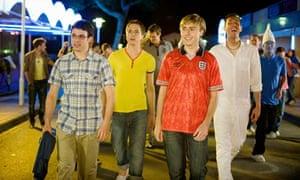 British invasion … four go mad in Malia in The Inbetweeners Movie (2011).