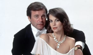 Natalie Wood with Robert Wagner, to whom she was married at the time of her death.