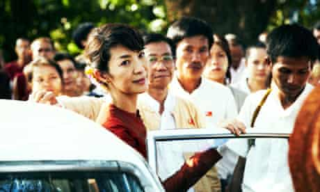 Michelle Yeoh as Aung San Suu Kyi in The Lady (2011).