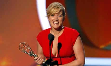 Kate Winslet accepts an Emmy in September for her performance in TV miniseries Mildred Pierce.