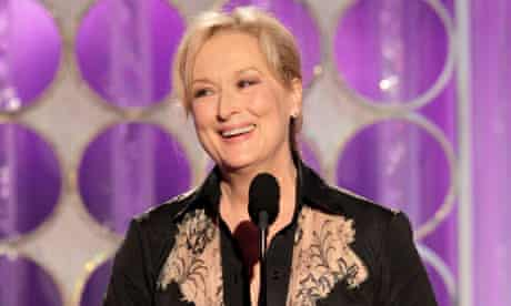 Meryl Streep at the Golden Globes 2012