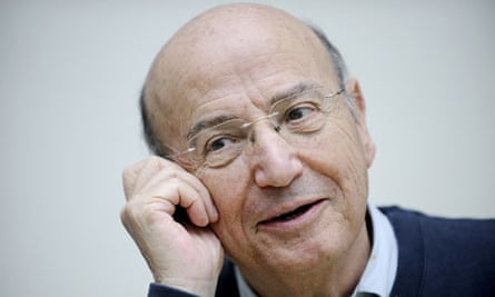 Making history … Theo Angelopoulos during a press call for his 2008 film The Dust of Time.