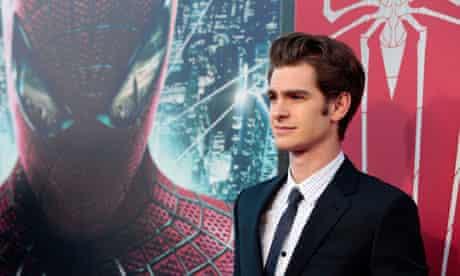 Web development … Andrew Garfield at the LA premiere of The Amazing Spider-Man in June.