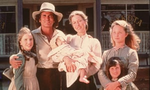 We are family … the cast of the US TV adaptation of Little House on the Prairie.