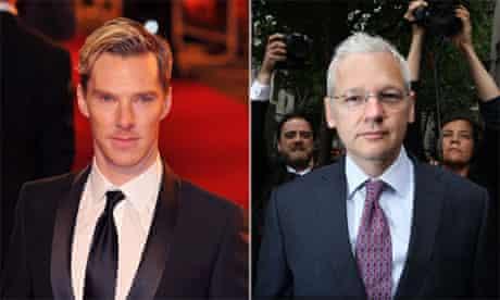 Life through a lens … Benedict Cumberbatch and Julian Assange.