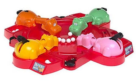 Whole new ballgame … Hasbro's Hungry Hungry Hippos is to be made into a film