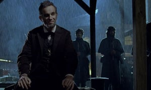 Playing politics … Daniel Day-Lewis as the president in Lincoln.