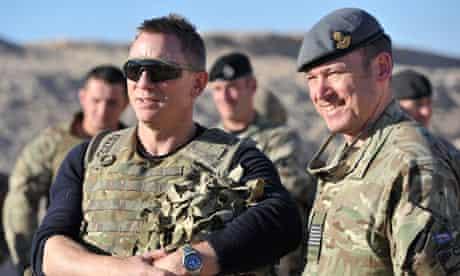 Daniel Craig, the star of Skyfall, in Afghanistan