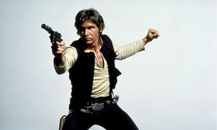 Harrison Ford as Han Solo in Star Wars Episode IV: A New Hope (1977).
