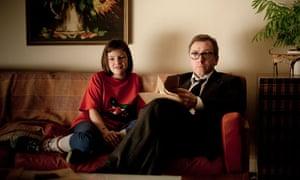 Sofa so good … Eloise Laurence and Tim Roth in Rufus Norris's Broken