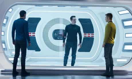Zachary Quinto, Benedict Cumberbatch and Chris Pine in Star Trek into Darkness (2013)