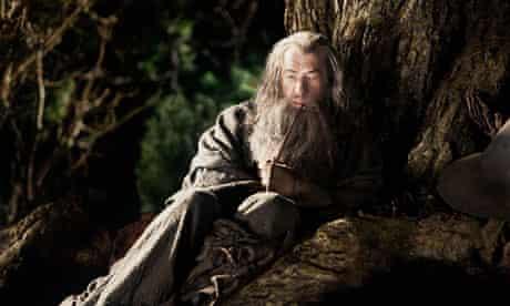 Ian McKellen as the wizard Gandalf in The Hobbit: An Unexpected Journey.