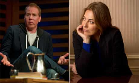 This is a man's word … Bret Easton Ellis and Kathryn Bigelow.