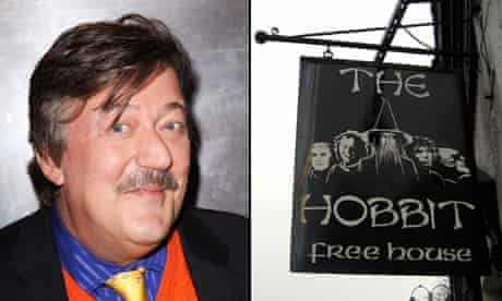 Stephen Fry and The Hobbit pub