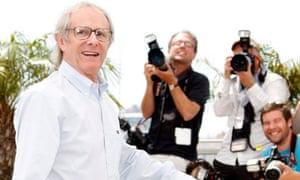 Ken Loach in Cannes in 2010