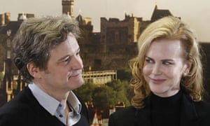 Colin Firth and Nicole Kidman at The Railway Man photocall - Edinburgh