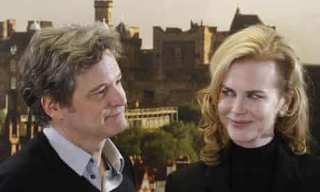 Colin Firth and Nicole Kidman at The Railway Man photocall - Edinburgh