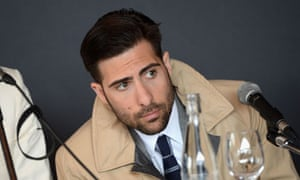 Jason Schwartzman at a press conference for Moonrise Kingdom in Cannes.