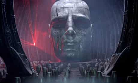 Space oddity … an alien monolith discovered in Ridley Scott's Prometheus.