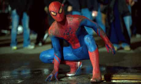 Suits you … Andrew Garfield in Columbia's forthcoming The Amazing Spider-Man.