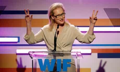 Gender quota … Meryl Streep speaks at the 2012 Women in Film awards in Los Angeles.