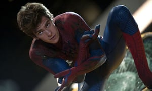 Arachnophilia … Andrew Garfield as Peter Parker in The Amazing Spider-Man.