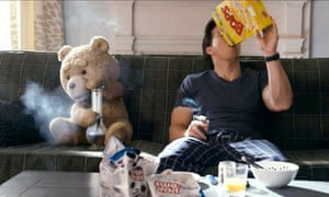 Mark Wahlberg and Seth MacFarlance in Ted