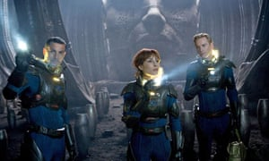 Logan Marshall-Green, Noomi Rapace and Michael Fassbender in Ridley Scott's Prometheus