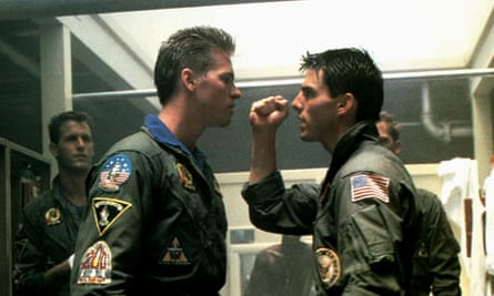 Tony Scott's breakthrough feature – 1986's Top Gun, starring Val Kilmer and Tom Cruise.