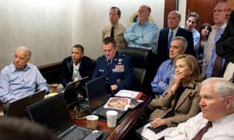 Barack Obama with US national security team