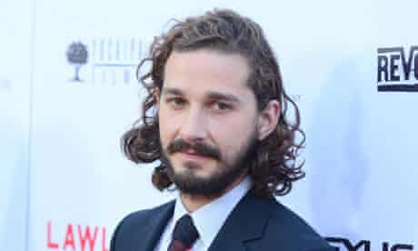 Shia LaBeouf at the premiere for Lawless