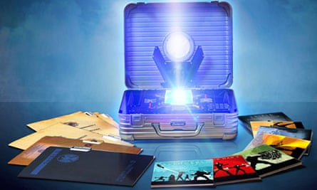 Legal case … Marvel's Avengers box set, featuring a briefcase design based on Rimowa's Topas attache
