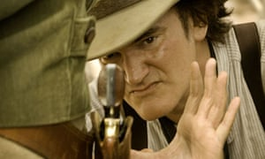 Direct action … Quentin Tarantino on the set of Django Unchained.