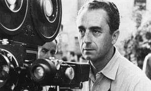 Camera obscura … Michelangelo Antonioni during the filming of L'Avventura (1960).