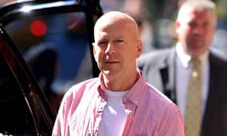 Apple turnover … Bruce Willis in New York last week.