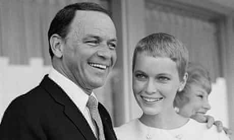 Frank Sinatra and Mia Farrow shortly after their wedding in 1966