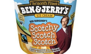 Anchorman ice cream: Ben & Jerry's Scotchy Scotch Scotch