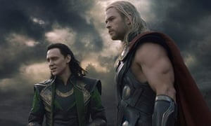 Brothers in arms … Tom Hiddleston and Chris Hemsworth in Thor: The Dark World.